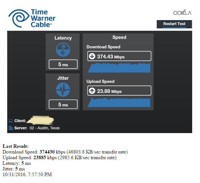 Wired Speedtest